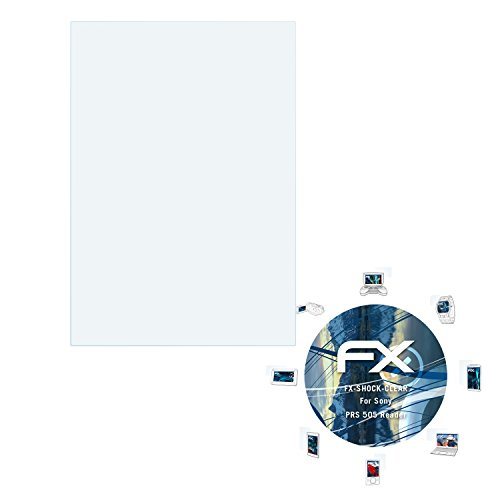 2 x atFoliX Panzerfolie Sony PRS 505 Reader Folie - FX-Shock-Clear ultraklar und stoßabsorbierend