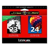 Lexmark's exclusive pigmented and dye-based color ink 23/24 COMBO PACK- Black