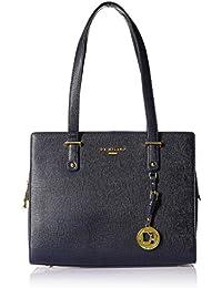 Da Milano Women's Handbag (Blue) (Lb-3854Bluesaffiano)