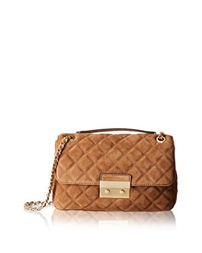 Michael Kors Bandolera Sloan Lg Chain Shoulder Quilted Suede B Caramelo