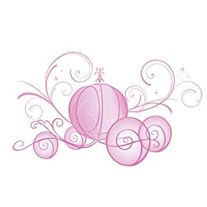 Roommates Rmk2169Gm Disney Princess Scroll Carriage Peel And Stick Giant Wall Decals, 1-Pack from RoomMates