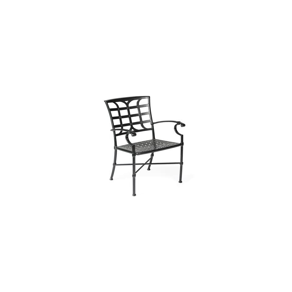 Winston Castile Cast Aluminum Dining Chair   Set of 2