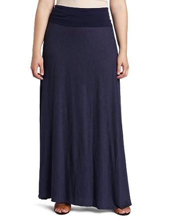 fresh laundry s plus size maxi skirt navy x large