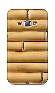 Amez designer printed 3d premium high quality back case cover for Samsung Galaxy J1 (2016 EDITION) (Bamboo vertical wood Texture)