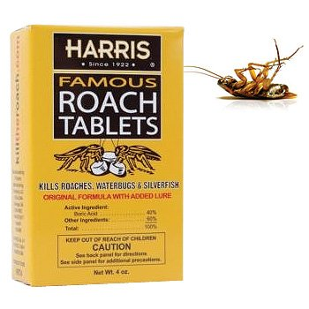 200 Harris Roach Tablets Kills Roaches, Spiders, Ants & Silverfish (Set of 2)
