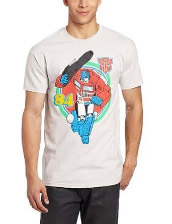 Transformers Men's Optimus Prime T-Shirt, Silver, X-Large
