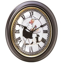 BrookwoodTM Oval-Shaped Baker Wall Clock