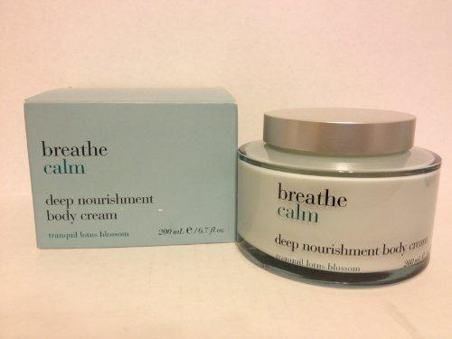 Bath & Body Works Breathe Calm Deep Nourishment Body Cream - Tranquil Lotus Blossom 6.7 oz Deep Calm Bath