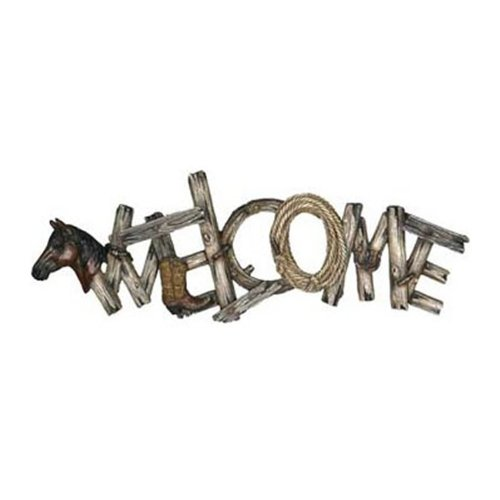 Rivers Edge Products Western Themed Welcome Sign