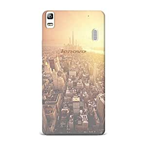 Lenovo A7000 Transparent Printed Design [Scratchproof + Protective] - Nature Golden Sunshine Cityscape Overview Case