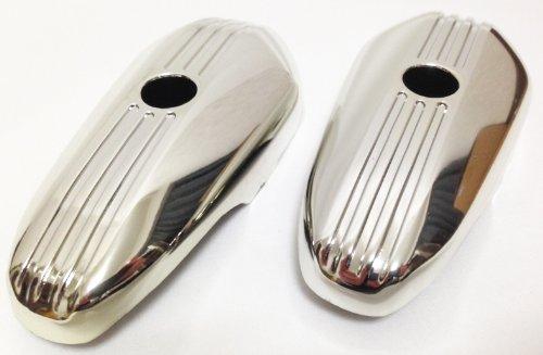 ヤマハ ホンダ 用 バイク メッキ フロント フォーク サイド カバー (ホンダ用)