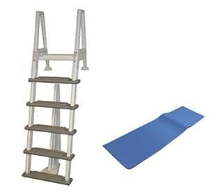 Confer 6000b Heavy Duty Aboveground In Pool Swimming Pool Ladder 48 54 Pad