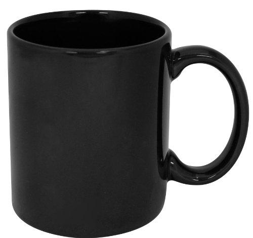 Funny Guy Mugs Plain Black Ceramic Coffee Mug, Black, 11-Ounce (Black White Coffee Mug compare prices)