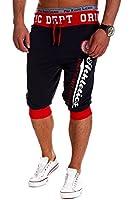 MT Styles - MT-11 - Bermuda/Pantalon de jogging contrasté