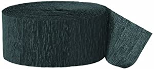 Black Crepe Paper Streamer, 81' roll (BLACK, 2)