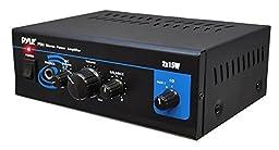Pyle Home PTA1 Mini 2 x 15-Watt Stereo Power Amplifier