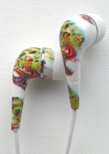 Ed Hardy Tattoo Earbuds for iPod iPhone Skull & Viper Design Set of 2!