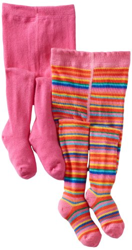 Country Kids Baby Girls' Jelly Bean Stripe 2 Pair Tights