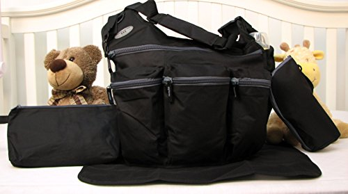 soho-daddy-grand-central-4-pieces-diaper-bag-set-limited-time-offer-black
