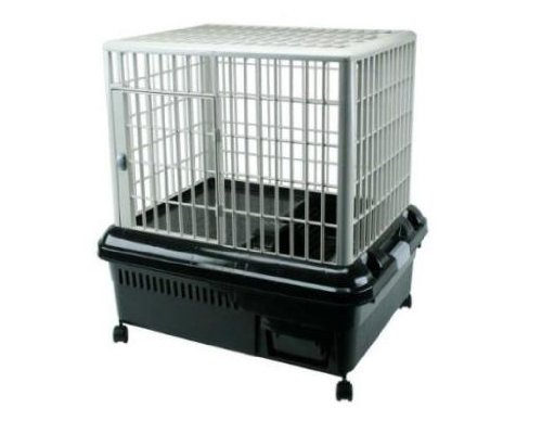 Plastic Rabbit Cage - RP-750 Black/Gray