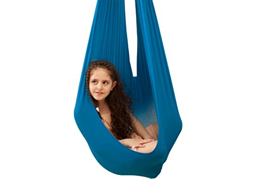 Therapy swing by inyard tm cuddle swing sensory swing for Fabric hammock chair swing