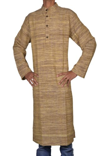 Mens Casual Cotton Long Kurta Fabric For Winter & Summers Size XXL