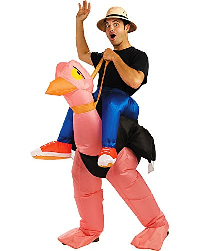 Gemmy Ollie Ostrich Illusion Airblown Inflatable Adult Dress Up Halloween Costume