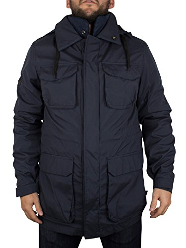 Bellfield Uomo Gorin 3 in 1 Pocket Jacket, Blu, Medium