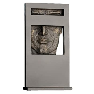 Views 24-Inch Tall Iron Sculpture, Masculine Face Plaque - Statuary