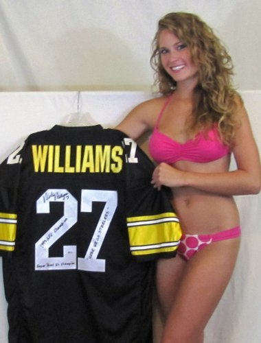 """Willie Williams Autgraphed Jersey - """"Super Bowl Xl Champs"""", """"1995 Afc Champs"""" & """"Here We Go Steelers"""" Inscriptions front-611173"""