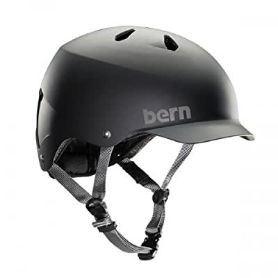 Bern Men's Watts Helmet - Matte Black Grey Brim, XX-Large/60.5-62cm from Bern