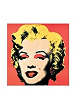 Artopweb Panel Decorativo Warhol Marilyn, 1967 - 25X25 cm Bordo Nero
