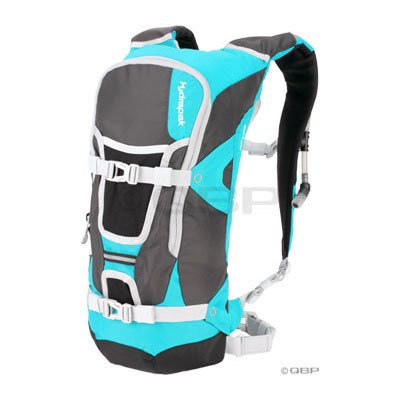 Hydrapak Reyes Hydration Pack: Gray/Teal; 100oz