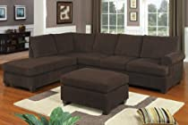 Hot Sale Charming 2-pcs sectional sofa reversable modern style By Poundex