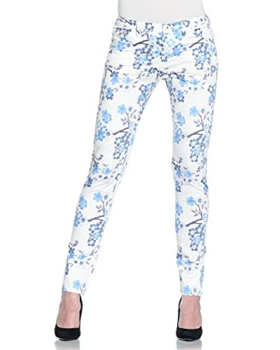 Armani Jeans Pantalone V5J06-Ul 01 [Bianco/Blu]