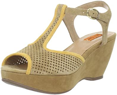 Miz Mooz Women's Yema Wedge Sandal,Tan,6 M US