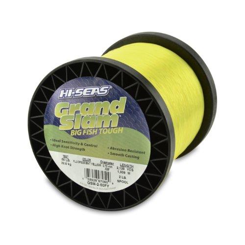 Hi-Seas Grand Slam Monofilament, 50 Pound Test, Fluorescent Yellow, 2-Pound Spool (Fluorescent Fishing Line compare prices)