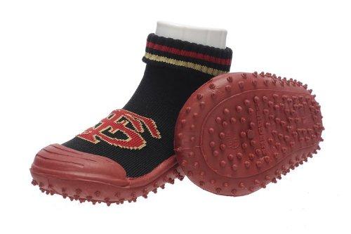 Skidders Florida State Seminoles Kids Slip-Resistant Indoor/Outdoor Slip-On Hybrid Shoes With Socks,18 M Us Toddler