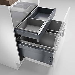 Naber, Cox ® Base 1T 600-2 con scheda base. Raccoglitori di rifiuti, grigio chiaro, Altezza 460 mm