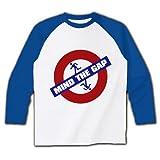 MIND_THE_GAP ラグラン長袖Tシャツ(ホワイト×ブルー) M