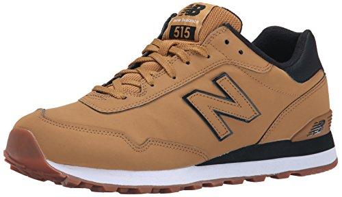 New Balance Men's ML515 Winter Stealth Pack Classic Running Shoe, Wheat/Black, 10.5...