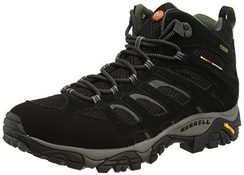 Merrell MOAB MID GTX J584597, Scarponcini da escursionismo e trekking uomo, Nero (Black), 46 EU