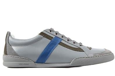 Dior zapatos zapatillas de deporte hombres en piel nuevo gris EU 39 3SN032VED