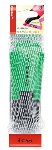 stabilo-neon-filet-de-3-surligneurs-vert