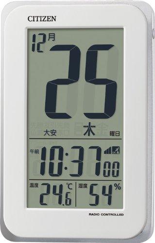 CITIZEN 日めくりタイプ 電波時計 スマートコートS 白 8RZ139-003