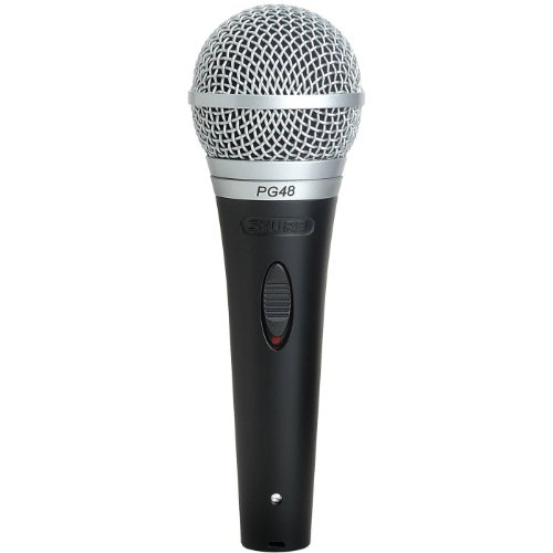 "Shure Pg48-Qtr Cardioid Dynamic Vocal Microphone With On-Off Switch Includes 15' Xlr To 1/4"" Cable"