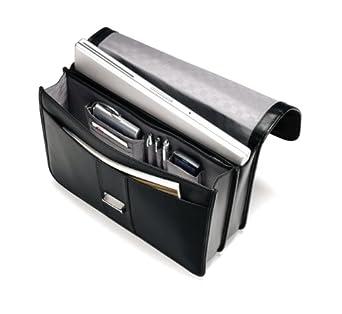 inside Samsonite Leather Flapover Briefcase