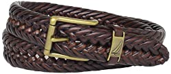 Nautica Mens Braided Belt,Tan,34