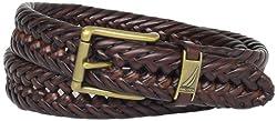 Nautica Men's Braided Belt,Tan,32