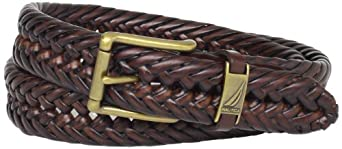Nautica Men's Braided Belt,Tan,32